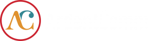 Ardent logo full color on black