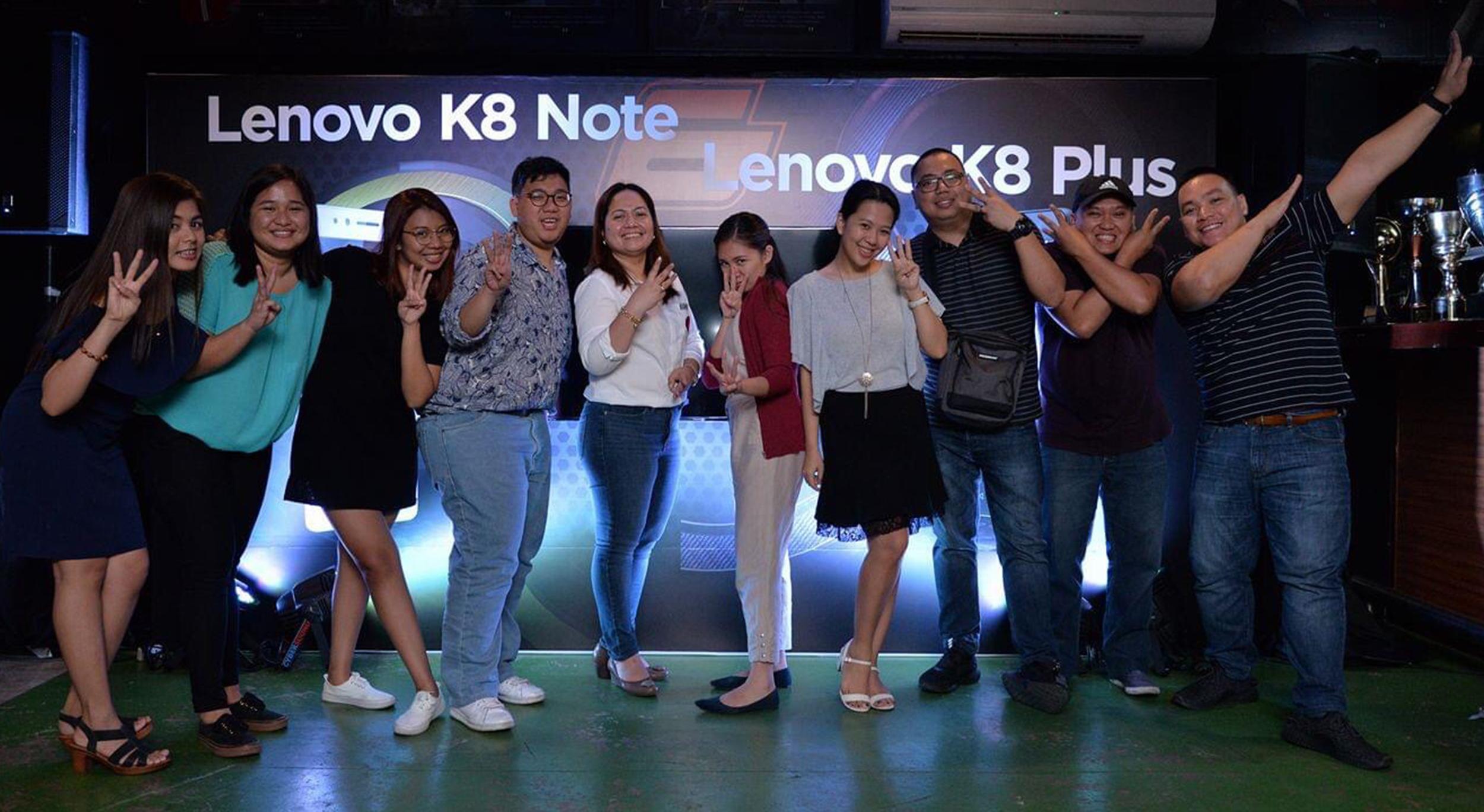Lenovo K8 Note Launch - Team Photo
