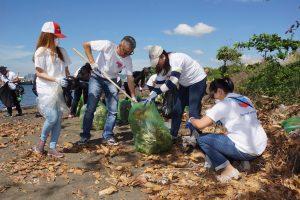 Chevron coastal clean up for public relations