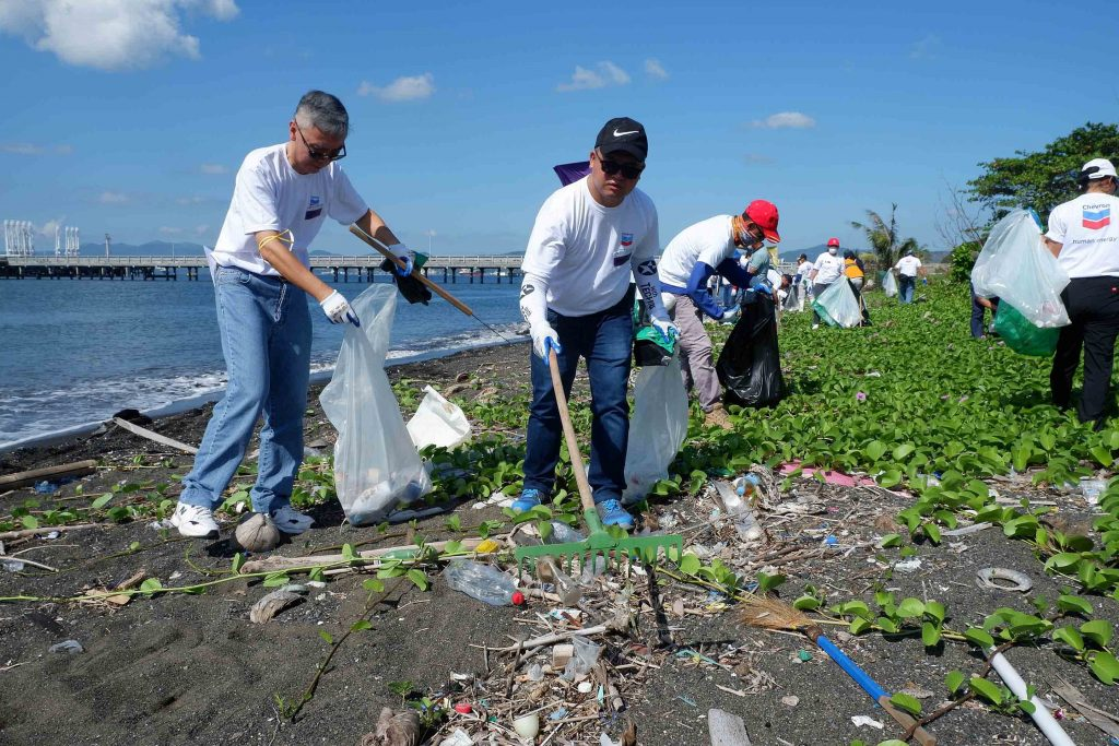 Chevron coastal cleanup