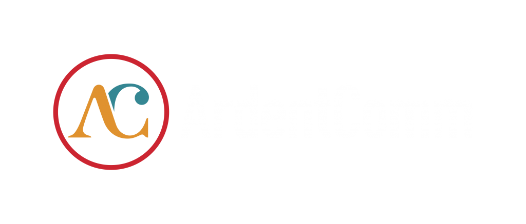 Ardent logo full color on black